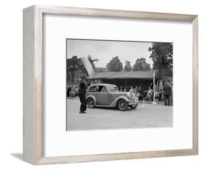 Talbot 10 of LJ Brown competing in the South Wales Auto Club Welsh Rally, 1937-Bill Brunell-Framed Photographic Print