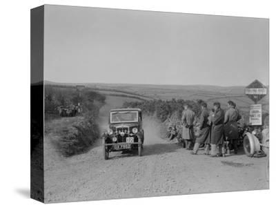 Morris of HG Smith, MCC Lands End Trial, summit of Beggars Roost, Devon, 1933-Bill Brunell-Stretched Canvas Print