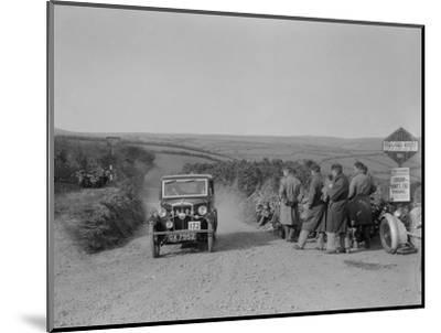 Morris of HG Smith, MCC Lands End Trial, summit of Beggars Roost, Devon, 1933-Bill Brunell-Mounted Photographic Print