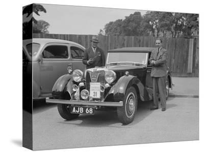 MG SA of AC Hess at the South Wales Auto Club Welsh Rally, 1937-Bill Brunell-Stretched Canvas Print