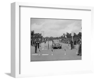 Rover saloon of CH Cooper competing in the South Wales Auto Club Welsh Rally, 1937-Bill Brunell-Framed Photographic Print