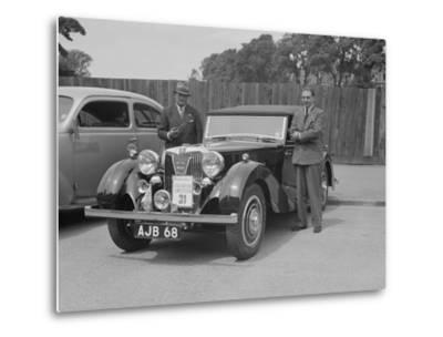 MG SA of AC Hess at the South Wales Auto Club Welsh Rally, 1937-Bill Brunell-Metal Print