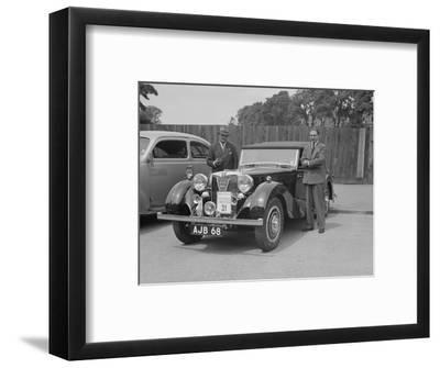 MG SA of AC Hess at the South Wales Auto Club Welsh Rally, 1937-Bill Brunell-Framed Photographic Print