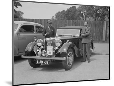 MG SA of AC Hess at the South Wales Auto Club Welsh Rally, 1937-Bill Brunell-Mounted Photographic Print