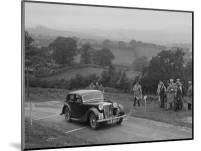 MG VA of RK Wellsteed competing in the South Wales Auto Club Welsh Rally, 1937-Bill Brunell-Mounted Photographic Print