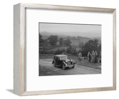 MG VA of RK Wellsteed competing in the South Wales Auto Club Welsh Rally, 1937-Bill Brunell-Framed Photographic Print