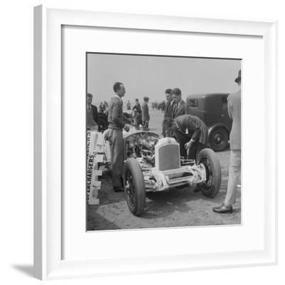 Raymond Mays Vauxhall-Villiers at a sand racing event, c1930s-Bill Brunell-Framed Photographic Print