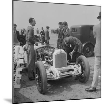 Raymond Mays Vauxhall-Villiers at a sand racing event, c1930s-Bill Brunell-Mounted Photographic Print