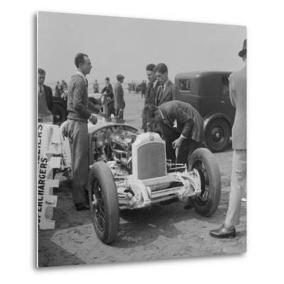 Raymond Mays Vauxhall-Villiers at a sand racing event, c1930s-Bill Brunell-Metal Print
