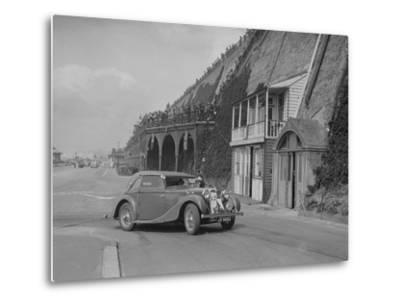 MG VA Tickford tourer of Lilian Roper competing in the RAC Rally, Madeira Drive, Brighton, 1939-Bill Brunell-Metal Print