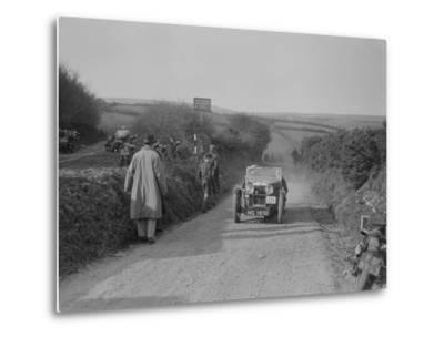 MG J2 of JWS Utley competing in the MCC Lands End Trial, Beggars Roost, Exmoor, 1933-Bill Brunell-Metal Print