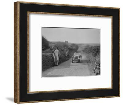 MG J2 of JWS Utley competing in the MCC Lands End Trial, Beggars Roost, Exmoor, 1933-Bill Brunell-Framed Photographic Print