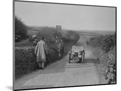 MG J2 of JWS Utley competing in the MCC Lands End Trial, Beggars Roost, Exmoor, 1933-Bill Brunell-Mounted Photographic Print