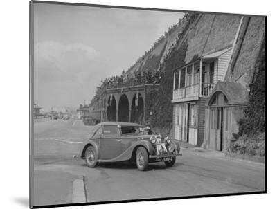 MG VA Tickford tourer of Lilian Roper competing in the RAC Rally, Madeira Drive, Brighton, 1939-Bill Brunell-Mounted Photographic Print