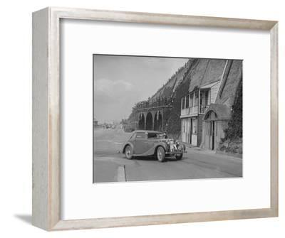 MG VA Tickford tourer of Lilian Roper competing in the RAC Rally, Madeira Drive, Brighton, 1939-Bill Brunell-Framed Photographic Print