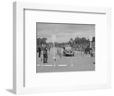Jaguar SS saloon of HT Lewis competing in the South Wales Auto Club Welsh Rally, 1937-Bill Brunell-Framed Premium Photographic Print