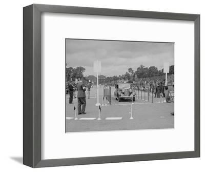 Jaguar SS saloon of HT Lewis competing in the South Wales Auto Club Welsh Rally, 1937-Bill Brunell-Framed Photographic Print