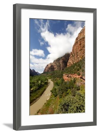 View of the Virgin River Through Zion Canyon in Utah, USA-Jill Schneider-Framed Photographic Print