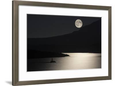 Full Moon over Saint Mary's Lake in Montana's Glacier National Park-Keith Ladzinski-Framed Photographic Print