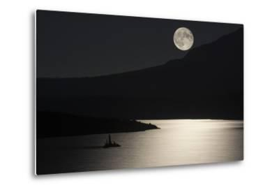 Full Moon over Saint Mary's Lake in Montana's Glacier National Park-Keith Ladzinski-Metal Print