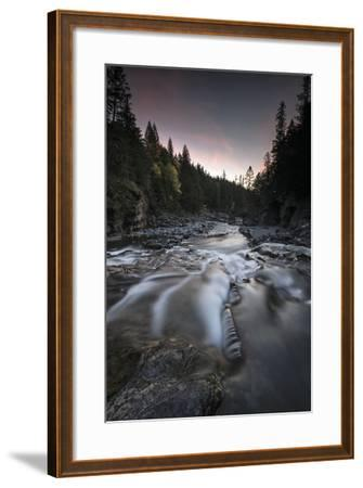 Cascading Mcdonald Creek in Montana's Glacier National Park-Keith Ladzinski-Framed Photographic Print