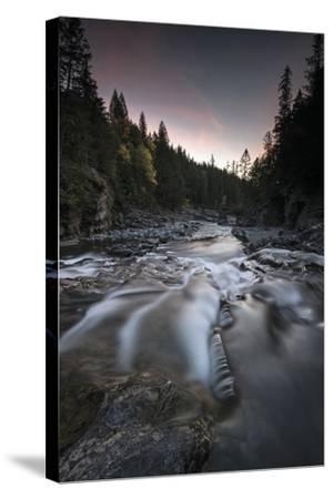 Cascading Mcdonald Creek in Montana's Glacier National Park-Keith Ladzinski-Stretched Canvas Print