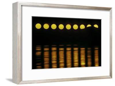 The Exotic Motion of the Midnight Sun over the Northern Horizon Above the Norwegian Sea-Babak Tafreshi-Framed Photographic Print