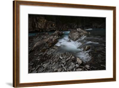 Natural Bridge over Kicking Horse River in Alberta, Canada-Raul Touzon-Framed Photographic Print