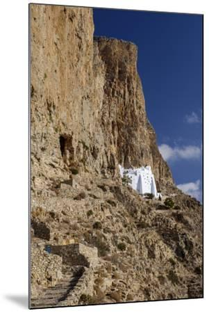 Hozoviotissa Monastery in Amorgos, Greece-Krista Rossow-Mounted Photographic Print