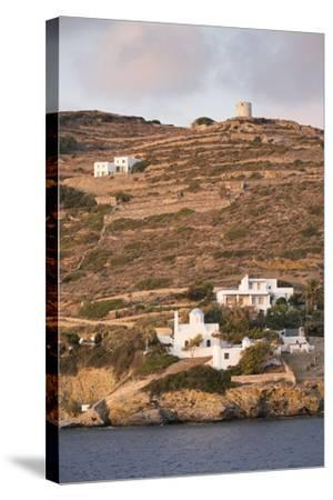 A Tiny Village on the Cycladic Island of Amorgos in Greece-Krista Rossow-Stretched Canvas Print