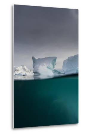 Over-Under View of an Iceberg, Skontorp Cove, Paradise Bay, Antarctica-Sergio Pitamitz-Metal Print