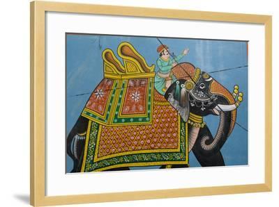 An Outdoor Mural in Jodhpur's Blue City-Steve Winter-Framed Photographic Print
