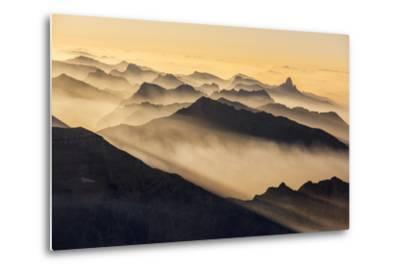 Smoke from Wildfires Shroud the Peaks of the Northern Rockies-Keith Ladzinski-Metal Print