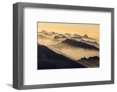 Smoke from Wildfires Shroud the Peaks of the Northern Rockies-Keith Ladzinski-Framed Photographic Print
