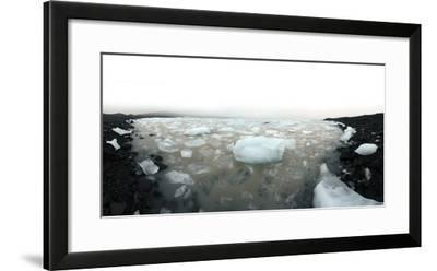 Icebergs in Fjallsarlon Ice Lagoon in Iceland-Raul Touzon-Framed Photographic Print