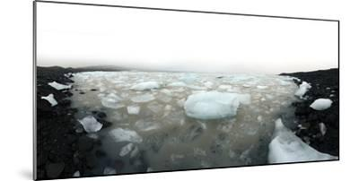 Icebergs in Fjallsarlon Ice Lagoon in Iceland-Raul Touzon-Mounted Photographic Print
