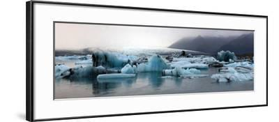 Icebergs on Atlantic Ocean Off Iceland-Raul Touzon-Framed Photographic Print