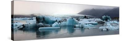 Icebergs on Atlantic Ocean Off Iceland-Raul Touzon-Stretched Canvas Print