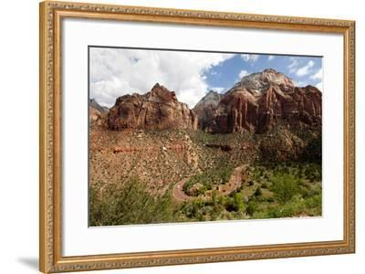 View of Zion National Park in Utah, USA-Jill Schneider-Framed Photographic Print