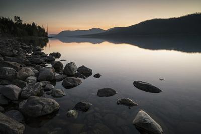 Twilight at Lake Mcdonald in Montana's Glacier National Park-Keith Ladzinski-Framed Photographic Print