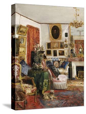 Interieur eines Wohnzimmers. 1882-Gustave de Launay-Stretched Canvas Print