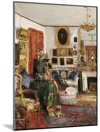 Interieur eines Wohnzimmers. 1882-Gustave de Launay-Mounted Giclee Print