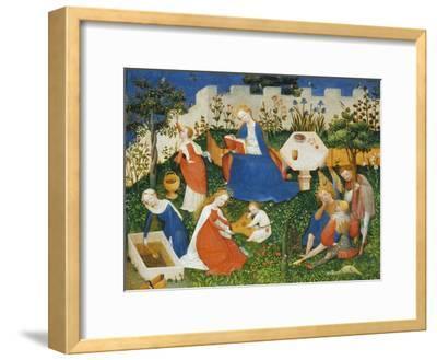 Little Garden of Paradise (Das Paradiesgärtlein)-Upper Rhenish Master-Framed Giclee Print