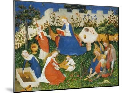 Little Garden of Paradise (Das Paradiesgärtlein)-Upper Rhenish Master-Mounted Giclee Print