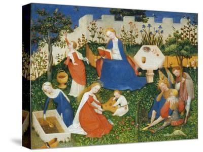 Little Garden of Paradise (Das Paradiesgärtlein)-Upper Rhenish Master-Stretched Canvas Print