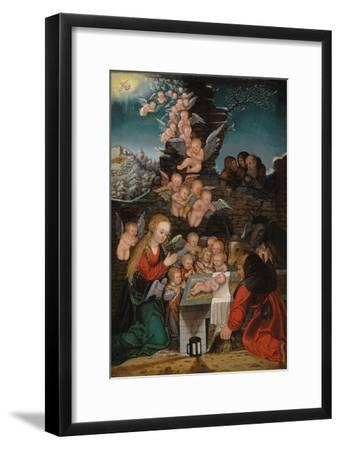 Geburt Christi-Lucas Cranach d.Ä.-Framed Giclee Print