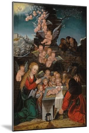 Geburt Christi-Lucas Cranach d.Ä.-Mounted Giclee Print