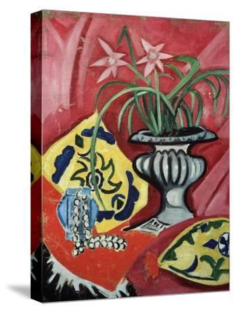Still life with vase. 1912-Olga Rozanova-Stretched Canvas Print