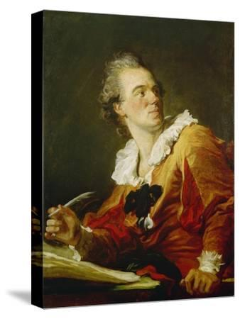 Die Inspiration-Jean Honoré Fragonard-Stretched Canvas Print