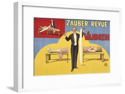 Zauber-Revue - Vandredi. Germany, 1923 (Adolph Friedländer, Hamburg)- Atelier Adolph Friedländer-Framed Giclee Print